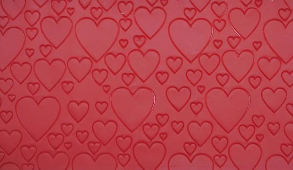 Wachsverzierplatte Herz