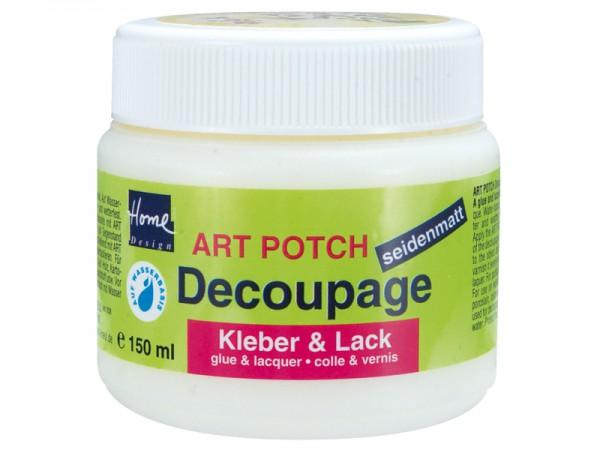 Art-Potch Decoupage Kleber & Lack - seidematt 150 ml
