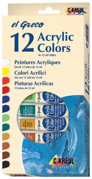 el Greco Acrylfarben 12er-Set