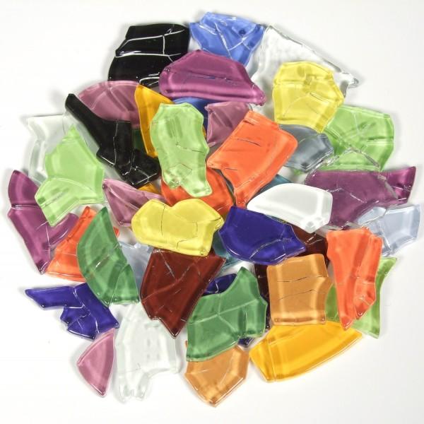 Crash Glas polygonale - Bunt Mix