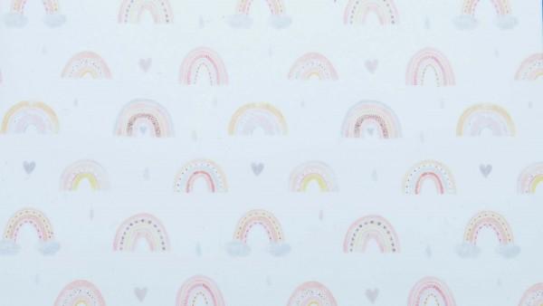 Regenbogen bedruckt, Motivwachsplatte, 120 x 70 mm, 1 Folie