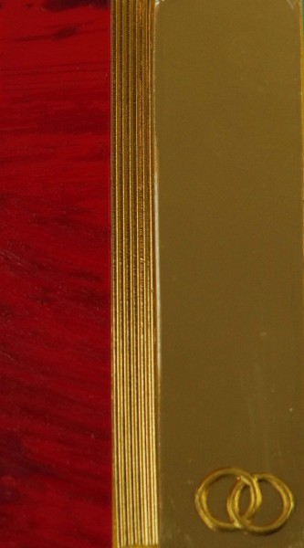 Wachsverzierset Eheringe gold - Komplettset
