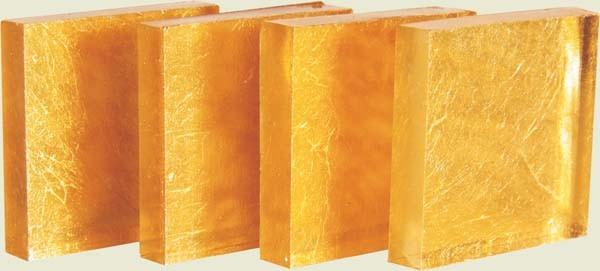Gelbgold-glatt 20x20mm