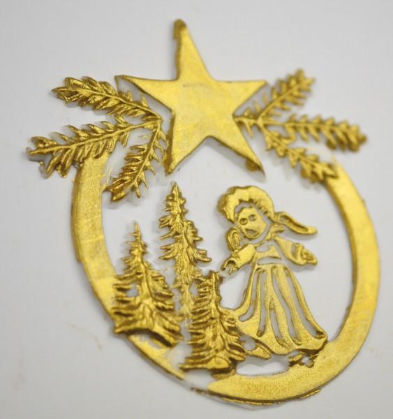 Wachsmotiv Engel im Kreis gold
