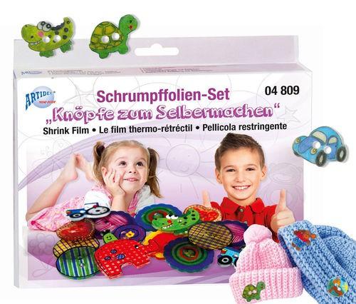 """Schrumpffolien-Set """"Knöpfe zum Selbermachen"""""""