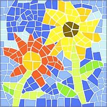 Mosaik Vorlagen Blumen 30x30 Cm Mixed Store Kerzenherstellen