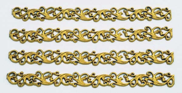Goldborte, 4 Reihen, 20 cm