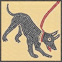 Mosaik Vorlagen - Hund l 26,5x26,5cm
