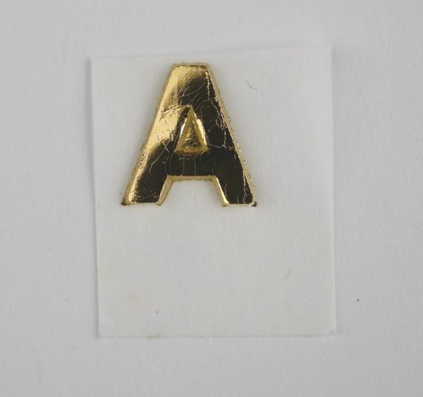 Wachsbuchstaben gold glänzend 8 mm