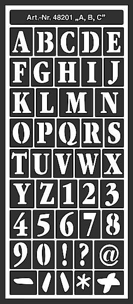 Motiv-Schablone Zahlen & Buchstaben