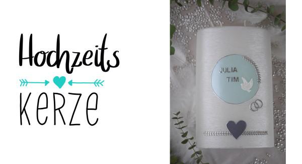 Hochzeitskerze-grau-mint-klein
