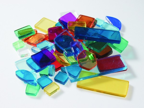Acryl Kunststoffmosaik Luzy polygonal - Bunt Mix