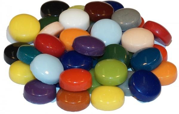 Fantasy Glas Mosaiksteine rund Ø 12 mm -  Bunt Mix