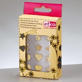 florale Brennstempel-Set für Efco Brandmalkolben