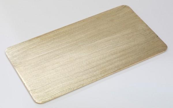 Teller Alu gold 30 x 16 cm