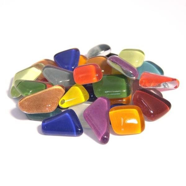 Soft Glas Mosaik polygonal Bunt Mix