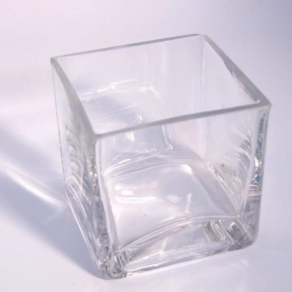 Glaswürfel für Teelichter - 8x8x8 cm