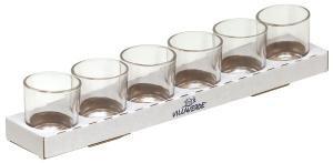 6x Votivkerzenglas, d5,6cm, J6,5cm