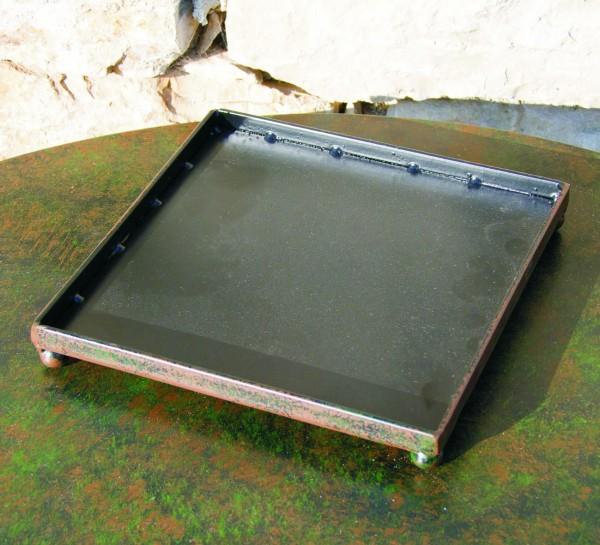 Metall Untersetzer quadratisch 20x20 cm