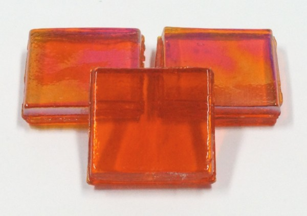 Eis Glas transparent 15x15x4mm - Orange