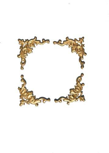 Wachsverzierung Rahmen 2 cm in gold oder silber