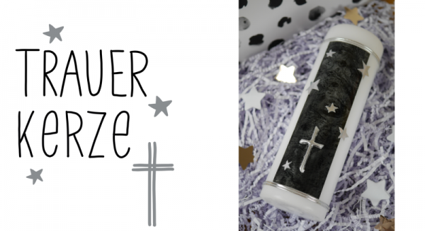 Trauerkerze-Kreuz-klein