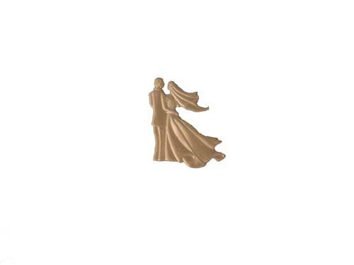 Wachs Hochzeitspaar perlmutt weiß, 6,5 cm
