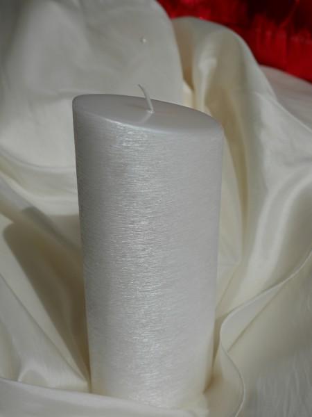 Ellipse abgeschrägt, perlmutt weiß gebürstet