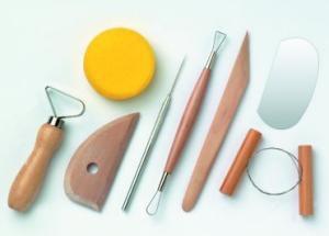 Werkzeugset für Ton