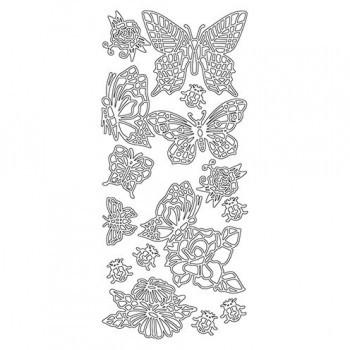 Stickerbogen Schmetterlinge