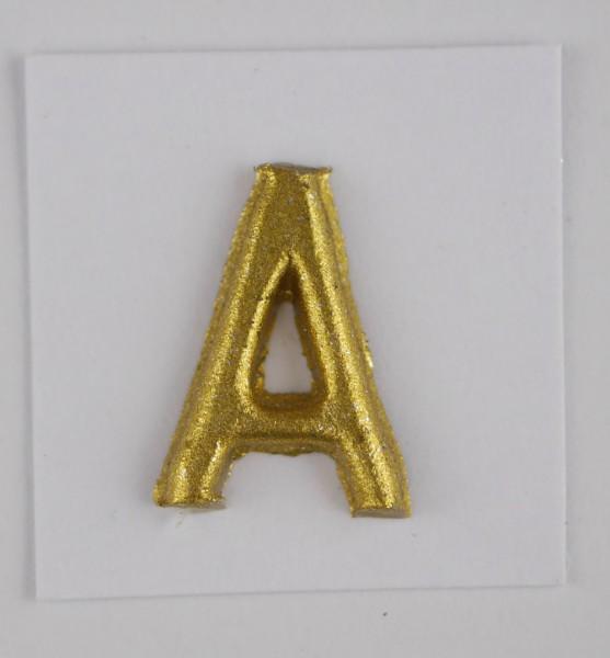 Wachsbuchstaben gold matt