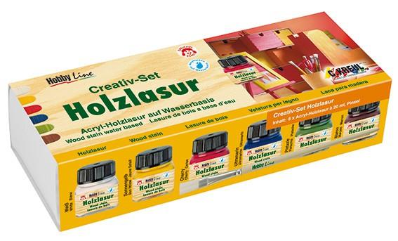 Holzlasur Creativ-Set, 6x20 ml