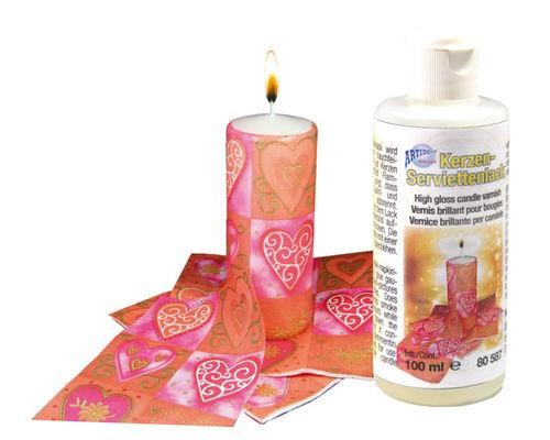 Kerzen-Serviettenlack