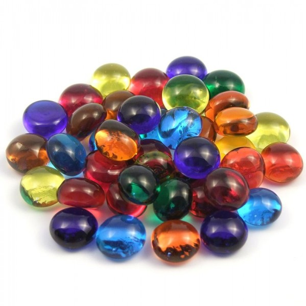 Glas-Nuggets 10 x 12 mm - Bunt Mix