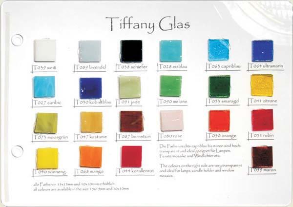 Tiffany Glas Mustertafel