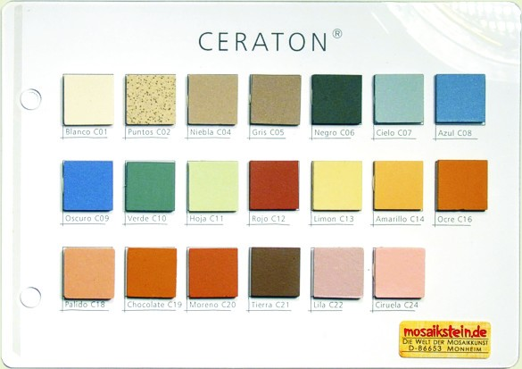 Mustertafel Ceraton