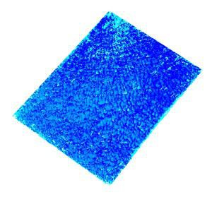 Crackle Mosaik Platte blau