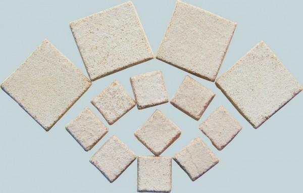 Byzantic Mosaiksteine Weiß