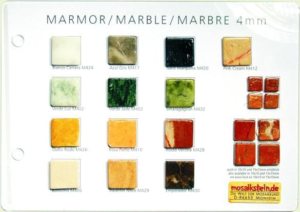 Mustertafel Marmor 4 mm
