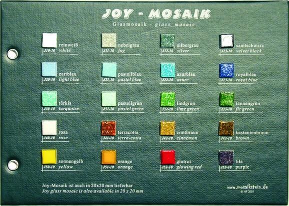 Mustertafel Joy Glas Mosaik