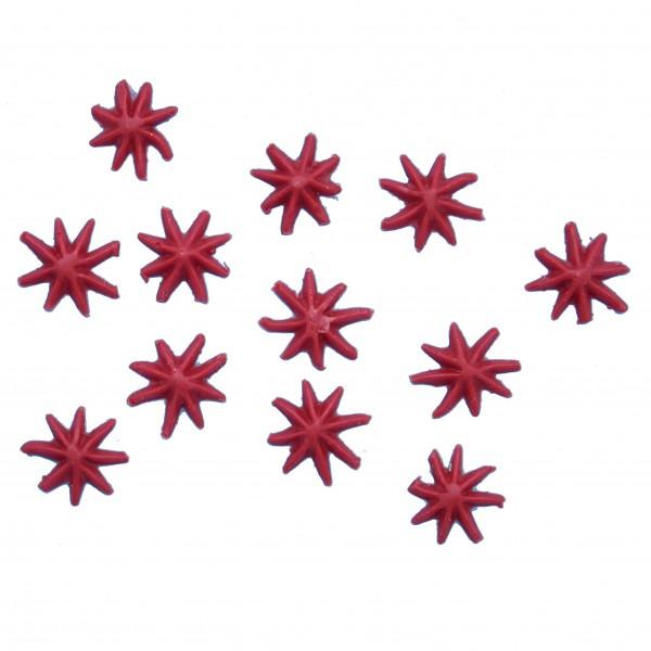 Sterne rot 1 cm, 12 Stück