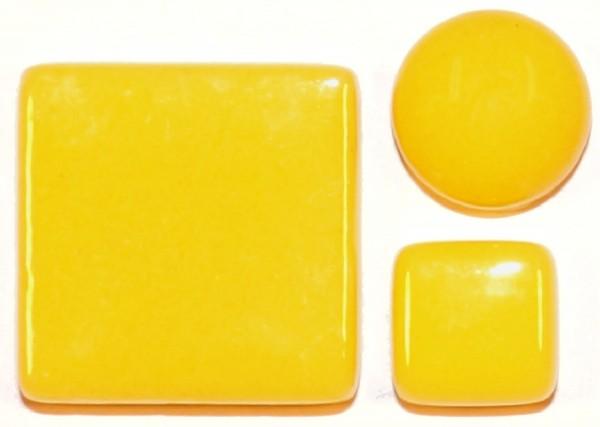 Fantasy Glas Mosaiksteine rund Ø 12 mm - Gelb