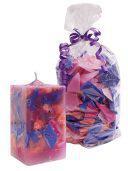 Candle Crunch violett+rose+blau