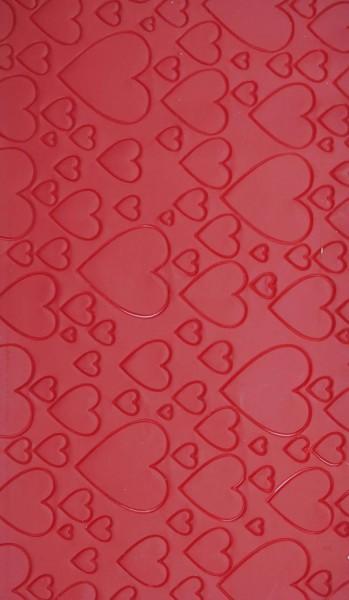 Wachsplatte Herz gestanzt in verschiedenen Farben