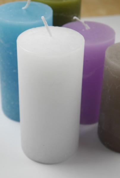 Kerze Rustic weiß in verschiedene Größen