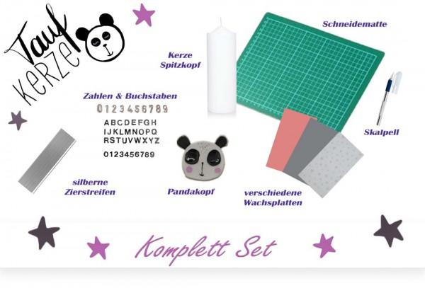 Taufkerzen Set - Pandabär