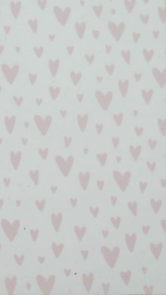 Herzen rosa Motivwachsplatte